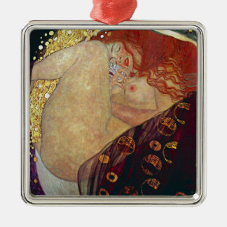 "Gustav Klimt, ""Danae"" Metal Ornament"