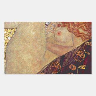 "Gustav Klimt, ""Danae"" Rectangular Sticker"
