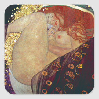 "Gustav Klimt, ""Danae"" Square Sticker"