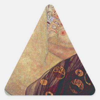 """Gustav Klimt, """"Danae"""" Triangle Sticker"""