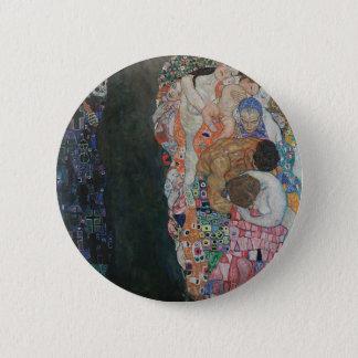 Gustav Klimt - Death and Life Art Work 6 Cm Round Badge