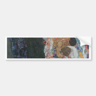 Gustav Klimt - Death and Life Art Work Bumper Sticker