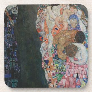 Gustav Klimt - Death and Life Art Work Coaster