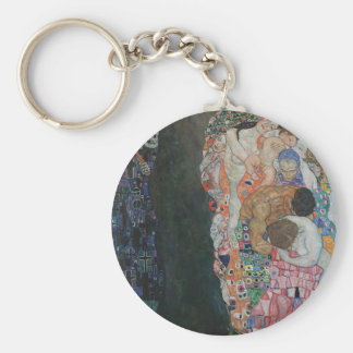 Gustav Klimt - Death and Life Art Work Key Ring