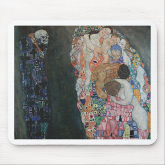 Gustav Klimt - Death and Life Art Work Mouse Pad