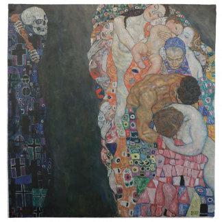 Gustav Klimt - Death and Life Art Work Napkin