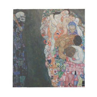 Gustav Klimt - Death and Life Art Work Notepad