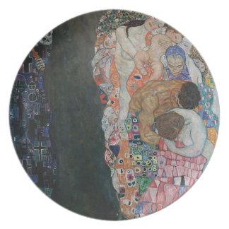 Gustav Klimt - Death and Life Art Work Plate