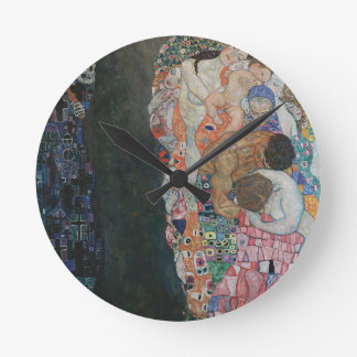 Gustav Klimt - Death and Life Art Work Round Clock