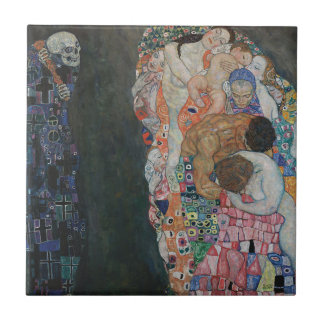 Gustav Klimt - Death and Life Art Work Tile