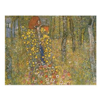 Gustav Klimt- Farm Garden with Crucifix Postcard
