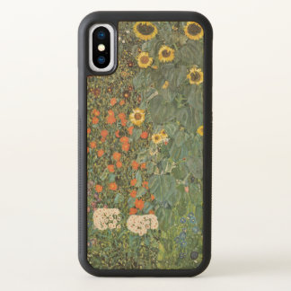 Gustav Klimt Farm Garden with Sunflowers GalleryHD iPhone X Case