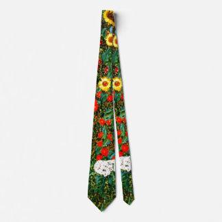 Gustav Klimt - Farm Garden with Sunflowers Tie