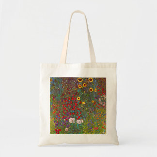 Gustav Klimt Farm Garden with Sunflowers Tote Bag