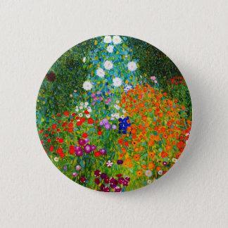 """Gustav Klimt, """"Farmhouse garden"""" 6 Cm Round Badge"""