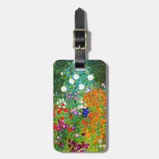 "Gustav Klimt, ""Farmhouse garden"" Luggage Tag"