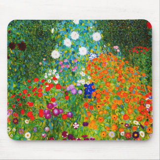"Gustav Klimt, ""Farmhouse garden"" Mouse Pad"