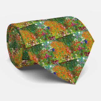 "Gustav Klimt, ""Farmhouse garden"" Tie"
