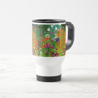 "Gustav Klimt, ""Farmhouse garden"" Travel Mug"
