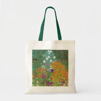 Gustav Klimt: Flower Garden Budget Tote Bag