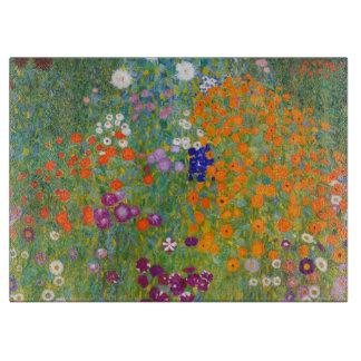 Gustav Klimt: Flower Garden Cutting Board