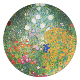 Gustav Klimt Flower Garden Plate