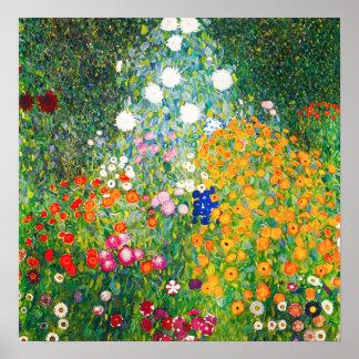 Gustav Klimt Flower Garden Poster