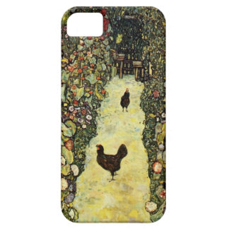 Gustav Klimt Garden path with chickens iPhone 5 Covers