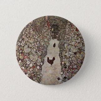 Gustav Klimt - Garden with Roosters 6 Cm Round Badge