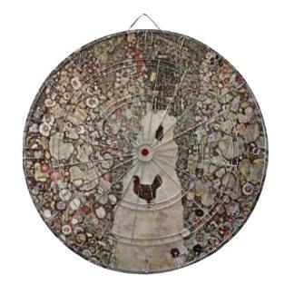 Gustav Klimt - Garden with Roosters Dartboard