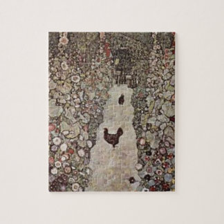 Gustav Klimt - Garden with Roosters Jigsaw Puzzle