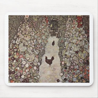 Gustav Klimt - Garden with Roosters Mouse Pad