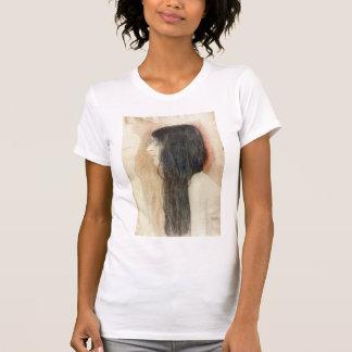 Gustav Klimt- Girl with Long Hair T Shirt