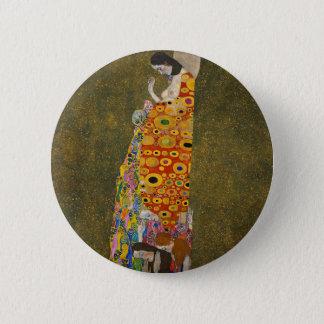 Gustav Klimt - Hope II - Beautiful Artwork 6 Cm Round Badge