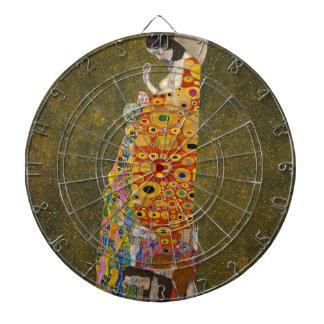 Gustav Klimt - Hope II - Beautiful Artwork Dartboard