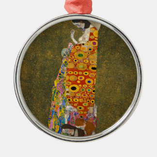 Gustav Klimt - Hope II - Beautiful Artwork Metal Ornament