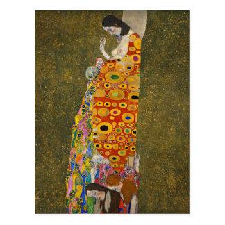 Gustav Klimt - Hope II - Beautiful Artwork Postcard