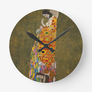 Gustav Klimt - Hope II - Beautiful Artwork Round Clock