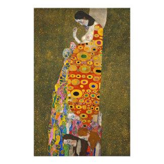 Gustav Klimt - Hope II - Beautiful Artwork Stationery