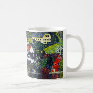 """Gustav Klimt, """"Houses at Unterach am Attensee"""" Coffee Mug"""