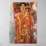 Gustav Klimt - Hygieia Medicine Goddess of Health Poster