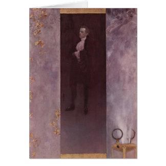 Gustav Klimt- Josef Lewinsky Greeting Card