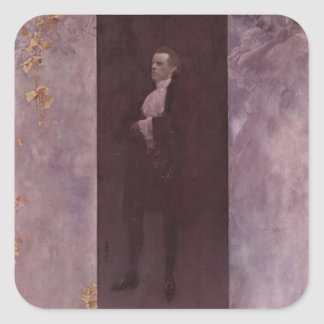Gustav Klimt- Josef Lewinsky Square Sticker