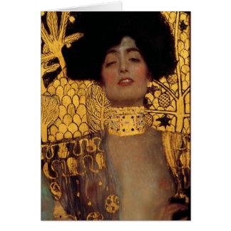 Gustav Klimt Judith And The Head Of Holofernes Card
