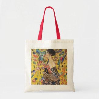 Gustav Klimt Lady With Fan Art Nouveau Painting