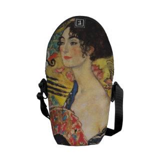 Gustav Klimt Lady With Fan Art Nouveau Painting Commuter Bag