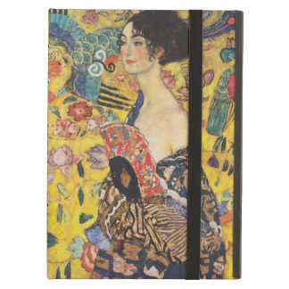 Gustav Klimt Lady With Fan Art Nouveau Painting iPad Air Cover