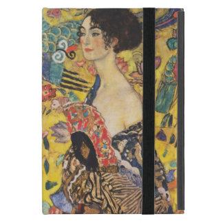 Gustav Klimt Lady With Fan Art Nouveau Painting iPad Mini Cover