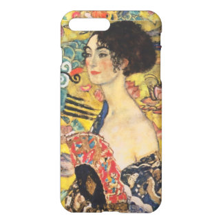 Gustav Klimt Lady With Fan Art Nouveau Painting iPhone 8 Plus/7 Plus Case