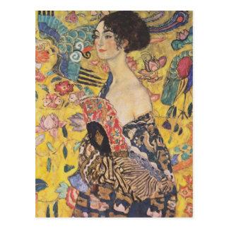 Gustav Klimt- Lady with Fan Postcard